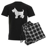 Scottish Terrier Silhouette Men's Dark Pajamas