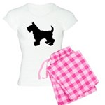 Scottish Terrier Silhouette Women's Light Pajamas