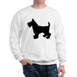 Scottish Terrier Silhouette Sweatshirt