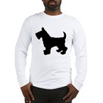 Scottish Terrier Silhouette Long Sleeve T-Shirt