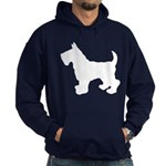 Scottish Terrier Silhouette Hoodie (dark)