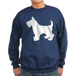 Scottish Terrier Silhouette Sweatshirt (dark)