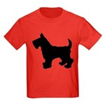 Scottish Terrier Silhouette Kids Dark T-Shirt