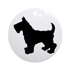 Scottish Terrier Silhouette Ornament (Round)