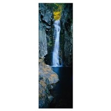 Waterfall in a forest, Moultonborough, Carroll Cou Poster