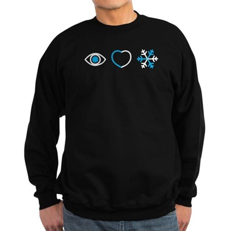 I Love Snow Sweatshirt (dark)