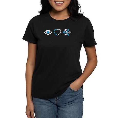 I Love Snow Women's Dark T-Shirt