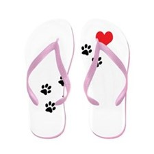 Paw Prints To My Heart Flip Flops
