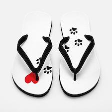 Paw Prints To My Heart Flip Flops