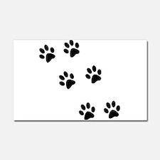 Walking Pawprints Car Magnet 20 x 12