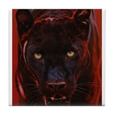 Cute Black panthers Tile Coaster