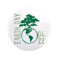 """Earth Day 2012 3.5"""" Button"""
