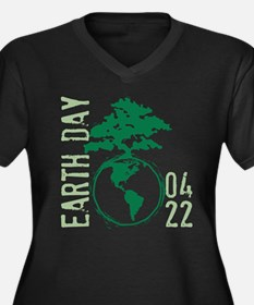 Earth Day 2012 Women's Plus Size V-Neck Dark T-Shi