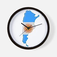 """""""Pixel Argentina"""" Wall Clock"""