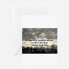 Fear and loneliness Greeting Card