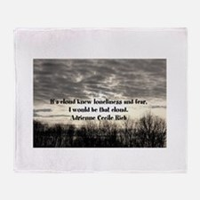 Fear and loneliness Throw Blanket