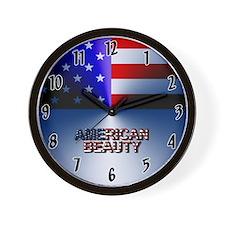 American Beauty Wall Clock