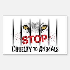 StopCrueltytoAnimals Sticker (Rectangle 10 pk)