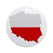 """Pixel Poland"" Ornament (Round)"
