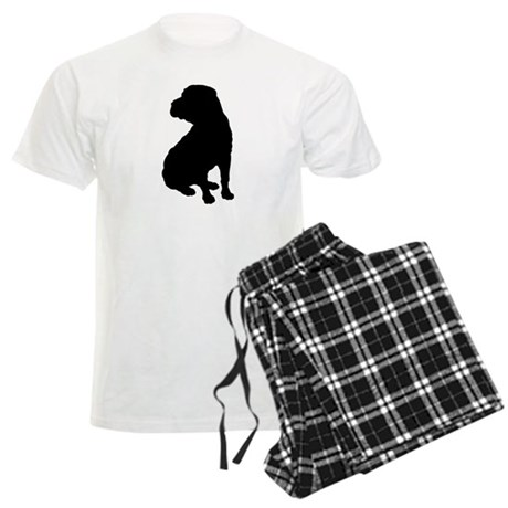 Shar Pei Silhouette Men's Light Pajamas