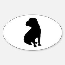 Shar Pei Silhouette Sticker (Oval)