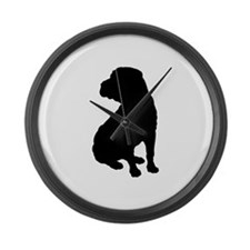 Shar Pei Silhouette Large Wall Clock
