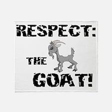 RESPECT the GOAT for Men Throw Blanket