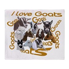 I love Goat Breeds Throw Blanket
