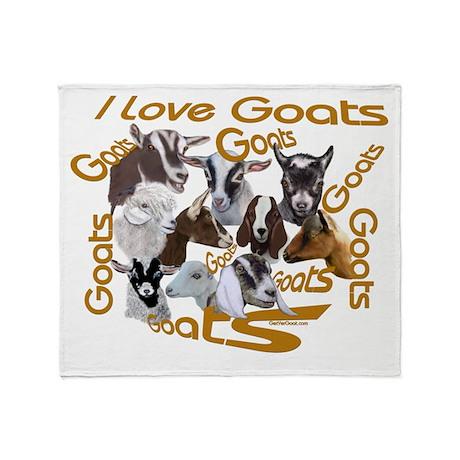 I love Goat Breeds Throw Blanket