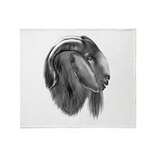 Boer Goat Buck Throw Blanket