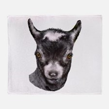 Pygmy Goat Portrait Throw Blanket