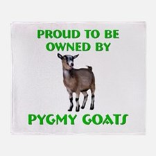 Cute Pygmy goat Throw Blanket