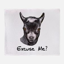 Pygmy Goat Excuse me? Throw Blanket