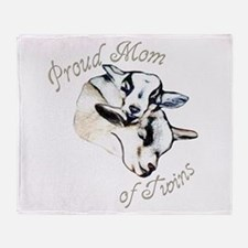 Pygmy Goat Twins Throw Blanket