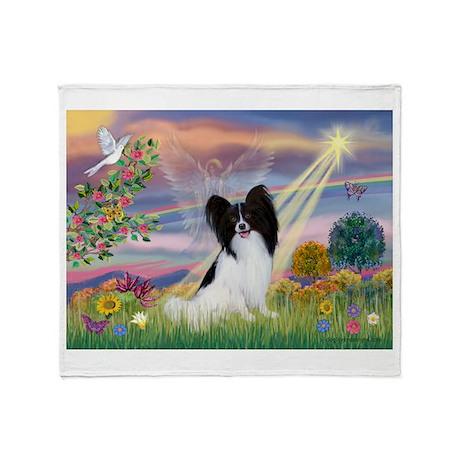 Cloud Angel & Papillon Throw Blanket