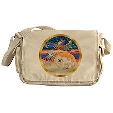 XmasStar/Pekingese (w) Messenger Bag