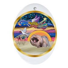 XmasStar/Pekingese #10 Ornament (Oval)