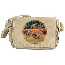 XmasStar/Pekingese #10 Messenger Bag
