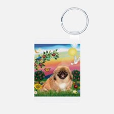 Bright Country Peke Keychains