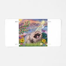Cloud Angel & Pekingese Aluminum License Plate