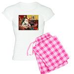 Santa's 2 Pekingese Women's Light Pajamas