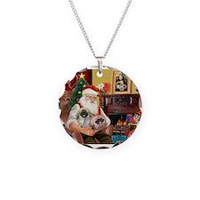 Santa's 2 Pekingese Necklace