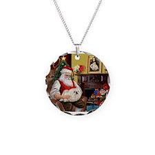 Santa's Pekingese (4W) Necklace