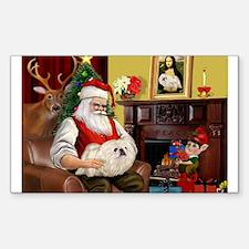 Santa's Pekingese (4W) Decal