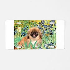 Irises / Pekingese (#1) Aluminum License Plate