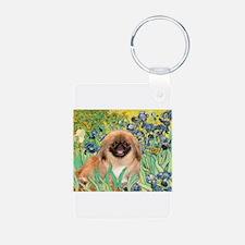 Irises / Pekingese (#1) Keychains