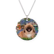 Lilies & Pekingese (#1) Necklace