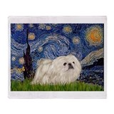 Pekingese Fleece Blankets