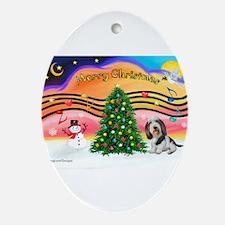 XmasMusic2/PBGV #5 Ornament (Oval)