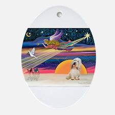 XmasStar/PBGV (#2) Ornament (Oval)